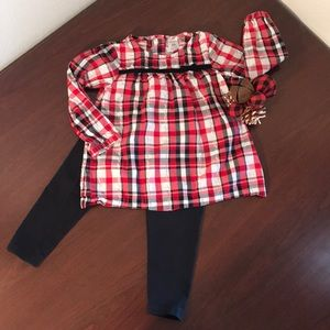 Little Girls Carters Outfit Size 24 months